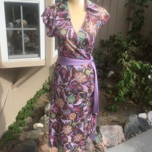 DVF Attica floral wrap dress